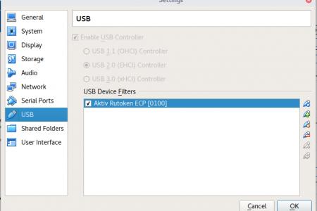 Как настроить USB в VirtualBox