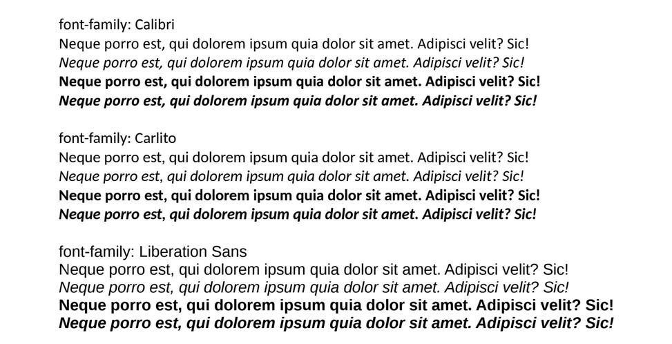 Шрифт colibri