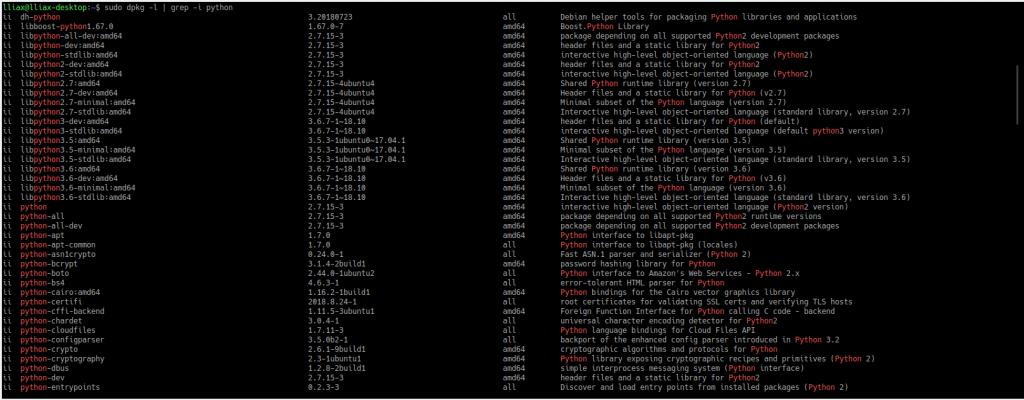 Как получить список всех установленных пакетов в Ubuntu